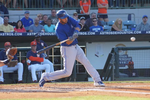 Chris Colabello homers in the 1st (EDDIE MICHELS PHOTO)