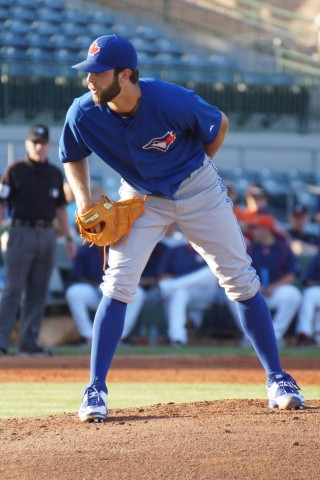 For the Jays starter it was Daniel K-Norris with eight strikeouts in six innings, five hits and four earned runs.  Norris is now 3-0 on the season and looking to figured big in the regular season rotation.  (EDDIE MICHELS PHOTO)