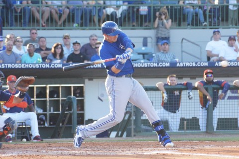 ... and Justin Smoak in the 2nd (EDDIE MICHELS PHOTO)