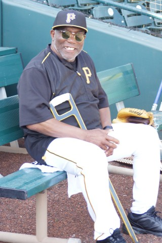 Manny Sanguillén played 13 years all with the Pirates from 1967 through 1980 (missing 1968)   Sanguillén abtted .296 with 65 HR and 585 RBI. (EDDIE MICHELS PHOTO)
