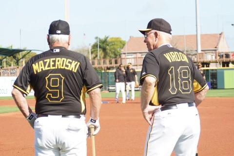 Legendary Pirates Bill Mazeroski and Bill Virdon (EDDEI MICHELS PHOTO)