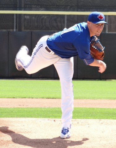 Toronto Blue Jays RHP Aaron Sanchez tossed three no hit innings against the Pittsburgh Pirates on Sunday allowing just a walk and striking out three but the visiting Pirates prevailed 1-0.  The games only run came in the fifth off lefty Scott Barnes who took the loss. (EDDIE MICHELS PHOTO)