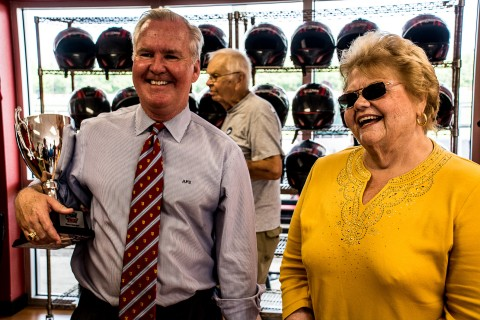 Tampa Mayor Bob Buckhorn is all smiles along with Palmetto Mayor Shirley Grover Bryant (photo Travis Failey / RSEN)