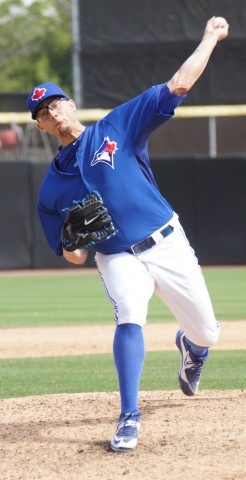 Toronto Closer Brett Cecil threw another scoreless inning on Monday.  The lefty did allow a hit but did strike out one. (EDDIE MICHELS PHOTO)