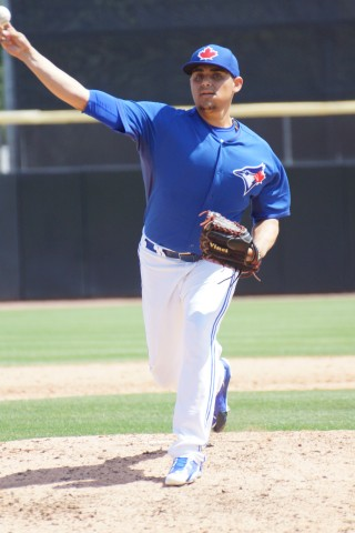 Roberto Osuna was all about efficiency today. The win with one inning pitched and 3 K's (EDDIE MICHELS PHOTO)