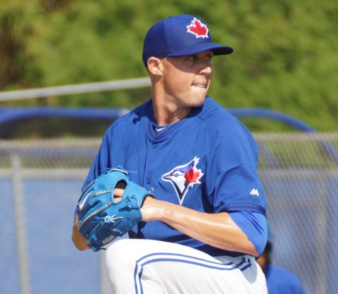 Aaron Sanchez is 2-2 with a 4.62 ERA. (EDDIE MICHELS PHOTO)