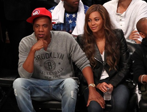 Jay Z and Beyonce (photo USA TODAY Sports / Adam Hunger)