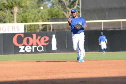 First throw was a strike to Matt Dean at first. (photo Rick Sassone / RSEN)