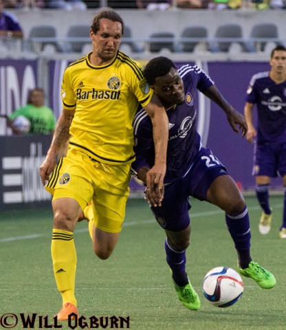 Orlando Cyle Larin (21) battles (photo Will Ogburn)