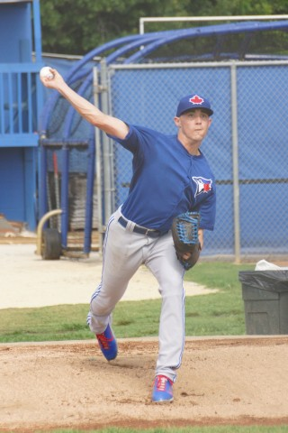 Aaron Sanchez is back in action for the Blue Jays. EDDIE MICHELS PHOTO
