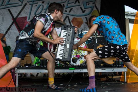 NaDaddy (L)  and Chap Stique, Family Force 5 (Will Ogburn photo)