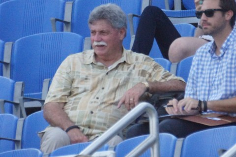 Brew Crew GM Doug Melvin  is in town for the three game set with Dunedin (EDDIE MICHELS PHOTO)