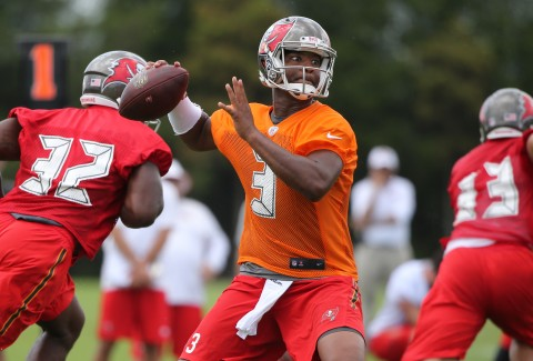 Tampa Bay Buccaneers quarterback Jameis Winston (3) throws the ball during minicamp at One Buc Place. (photo Kim Klement / USA TODAY Sports)