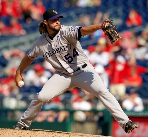Colorado Rockies relief pitcher Tommy Kahnle (54) throws a pitch against the Washington Nationals at Nationals Park. (photo Rafael Suanes / USA TODAY Sports)