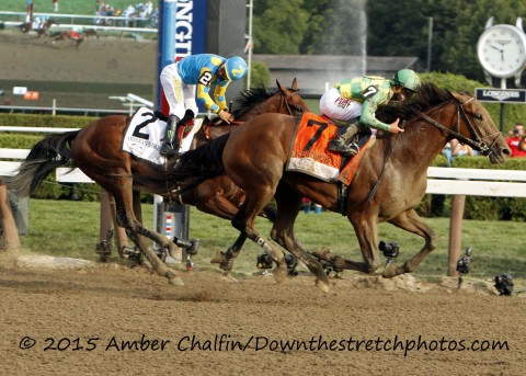 Keen Ice (7) and American Pharaoh (2) (Amber Chalfin /Down the Stretch Photos)