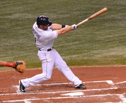 Logan Forsythe, Tampa Bay Rays (photo Buck Davidson)