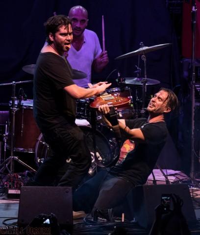 Mike Walker (drums), Gabe Aranda and Dameon Aranda (seated) - Aranda (Will Ogburn photo)