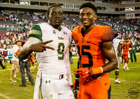 South Florida High School guys Quniton Flowers and Juwan Dowels (photo Travis Failey / RSEN)
