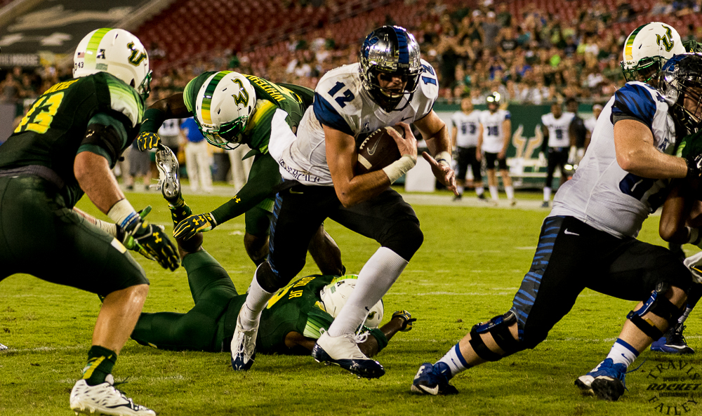 Paxton Lynch sneaks in for pay dirt vs. USF (photo Travis Failey / RSEN)