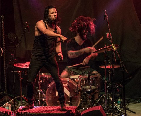 Leigh Kakaty (left) and Chachi Riot - Pop Evil (Will Ogburn photo)