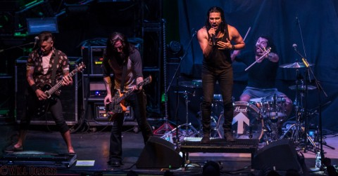(L-R) Dave Grahs, Matt DiRito, Leigh Kakaty and Chachi Riot - Pop Evil (Will Ogburn photo)