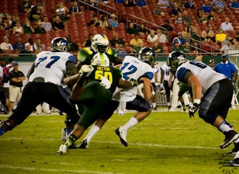 Bruce Hector slows Lynch down