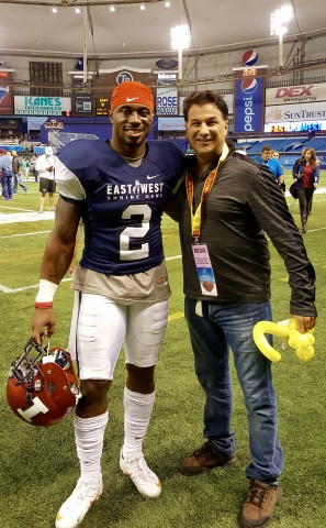 "Rick with V'Angelo Bentley, Illinois. Rick's new nickname ""V-Bent"" Good Luck in the draft!"