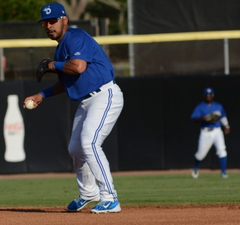 Back in May of 2015 Izturis rehabbed in Dunedin with the Blue Jays. (photo Rick Sassone / RSEN)
