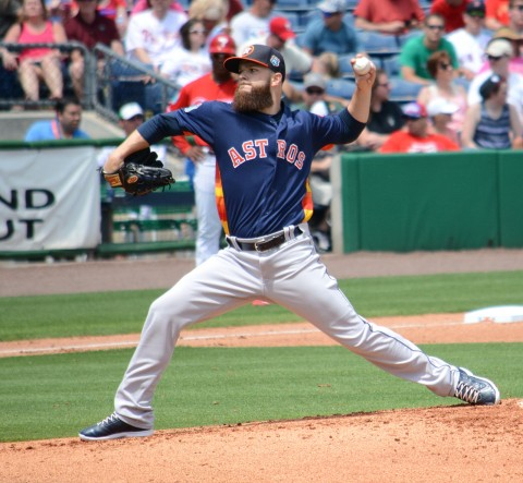 Houston starting pitcher Dallas Keuchel twirled seven brilliant innings against the Phillies on Wednesday. (photo Buck Davidson)