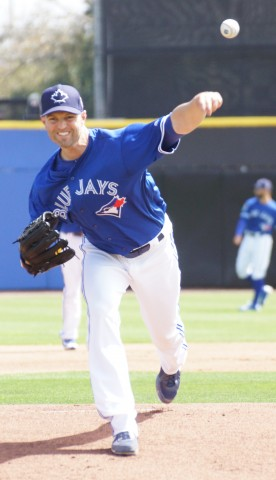 JA Happ with the start, 2 innings pitched, 2 hits, no runs (EDDIE MICHELS PHOTO)