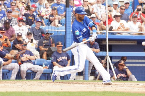 Jose Bautista Homers with Two Aboard in 3rd on a 2-0 Pitch (EDDIE MICHELS PHOTO)
