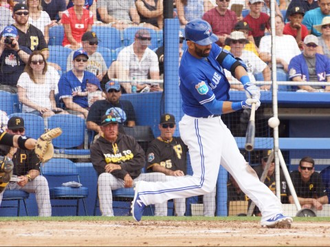 Jose Bautista Double Right Center in 1st (EDDIE MICHELS PHOTO)