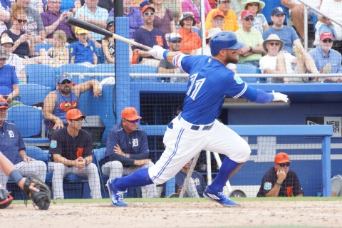 Pillar Single to Left in 2nd with 2 RBI (EDDIE MICHELS PHOTO)