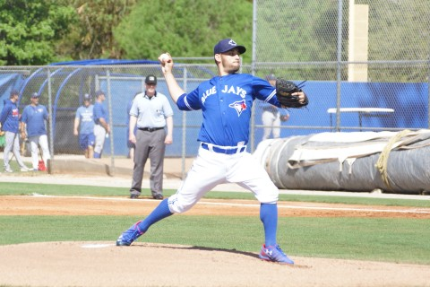 Facing Jays minor leaguers Estrada threw 4 2/3 innings allowing three runs on five hits which two were home runs while walking one and striking out five. (EDDIE MICHELS PHOTO)