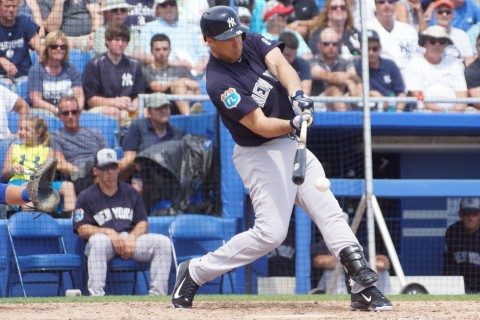 Mark Teixeira Fielders Choice RBI in 6th (EDDIE MICHELS PHOTO)