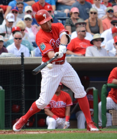 Philadelphia Phillies outfielder Peter Bourjos had two hits and drew a walk in a losing cause against Houston. (Buck Davidson photo)
