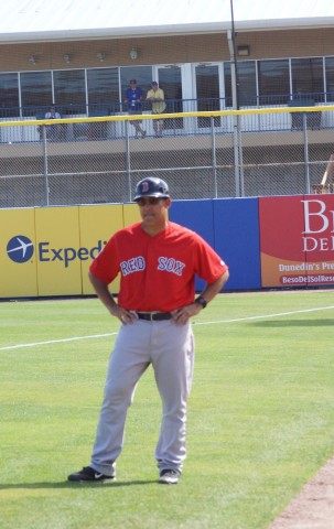 Ruben Amaro Jr. New Job Coach 1st for the Sox - EDDIE MICHELS PHOTO