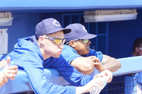 Marcus Stroman and Aaron Sanchez (EDDIE MICHELS PHOTO)
