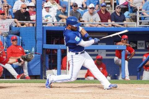 Tony Sanchez broken bat (EDDIE MICHELS PHOTO)