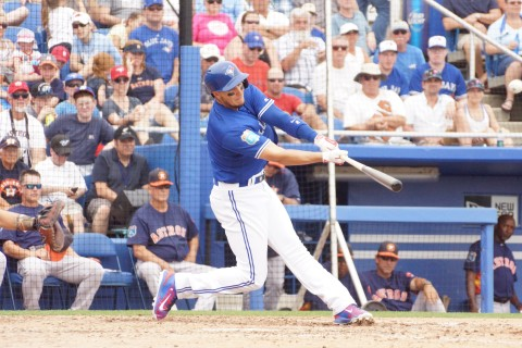 Troy Tulowitzki Homer in 5th Over Scoreboard on a 1-0 Pitch (EDDIE MICHELS PHOTO)