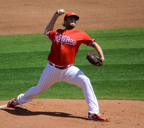 Philadelphia Phillies starting pitcher Alec Asher picked up his second win of the spring Wednesday against the Baltimore Orioles. (photo Buck Davidson)
