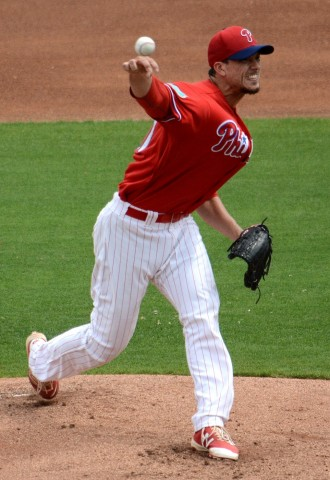 Philadelphia Phillies starting pitcher Charlie Morton struggled through a rough outing against the Pittsburgh Pirates on Friday. (PHOTO BUCK DAVIDSON