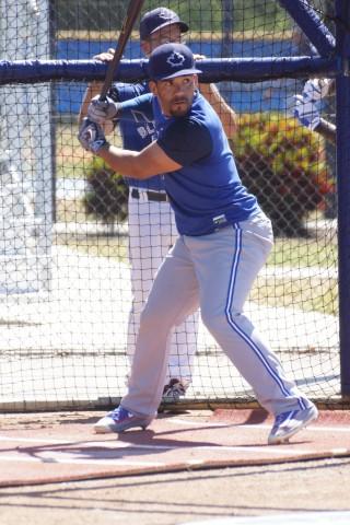 Devon Travis said before he took a swing that it had been one week shy of nine months since he last took batting practice. (EDDIE MICHELS PHOTO)