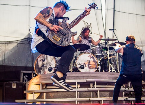 Eric Bass, Barry Karch & Brent Smith Shinedown (Photo-Travis Failey)