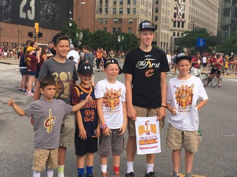 Cavs kids (photo by Shawn Dishauzi)