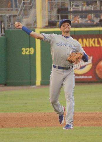 Tulowitzki Throwing From Short (EDDIE MICHELS PHOTO)