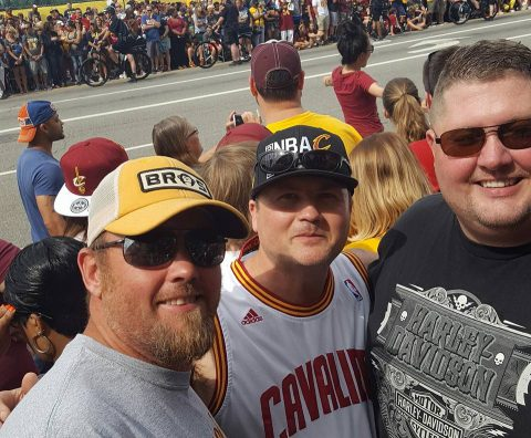 Cavs fans (photo by Tom Brock)