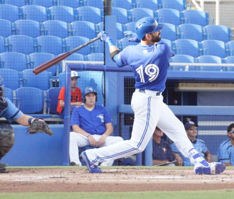 Jose Bautista Solo HR to Left Center on a 3-2 Pitch (EDDIE MICHELS PHOTO)