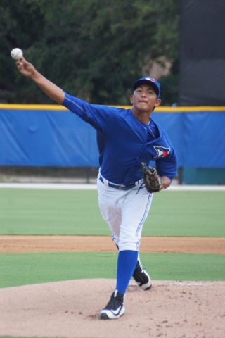 The GCL Blue Jays continue their winning ways with a 3-2 win over the Yankees West squad on Friday.  Lupe Chavez got the win to improve to 3-0 after allowing two runs on seven hits while walking one and striking out three.  Chavez lowered his era. to 1.06. (EDDIE MICHELS PHOTO)