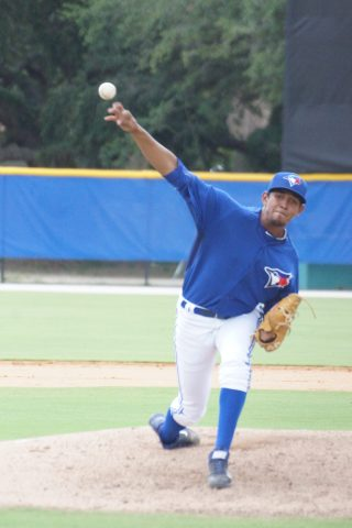 Yonardo Herdenez earned his second save of the GCL season with three shutout innings as the Blue Jays beat the Yankees East squad 7-0 on Thursday. Herendez allowed two hits and struck out one. (EDDIE MICHELS PHOTO)